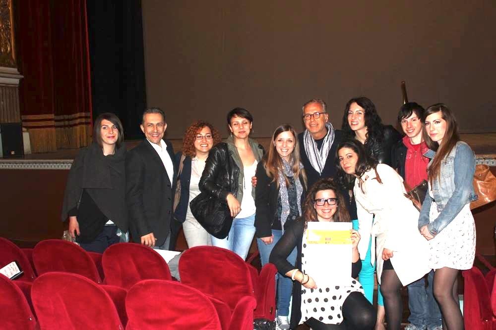 Studenti ABA AQ con Lorenzo Marini e Petricone