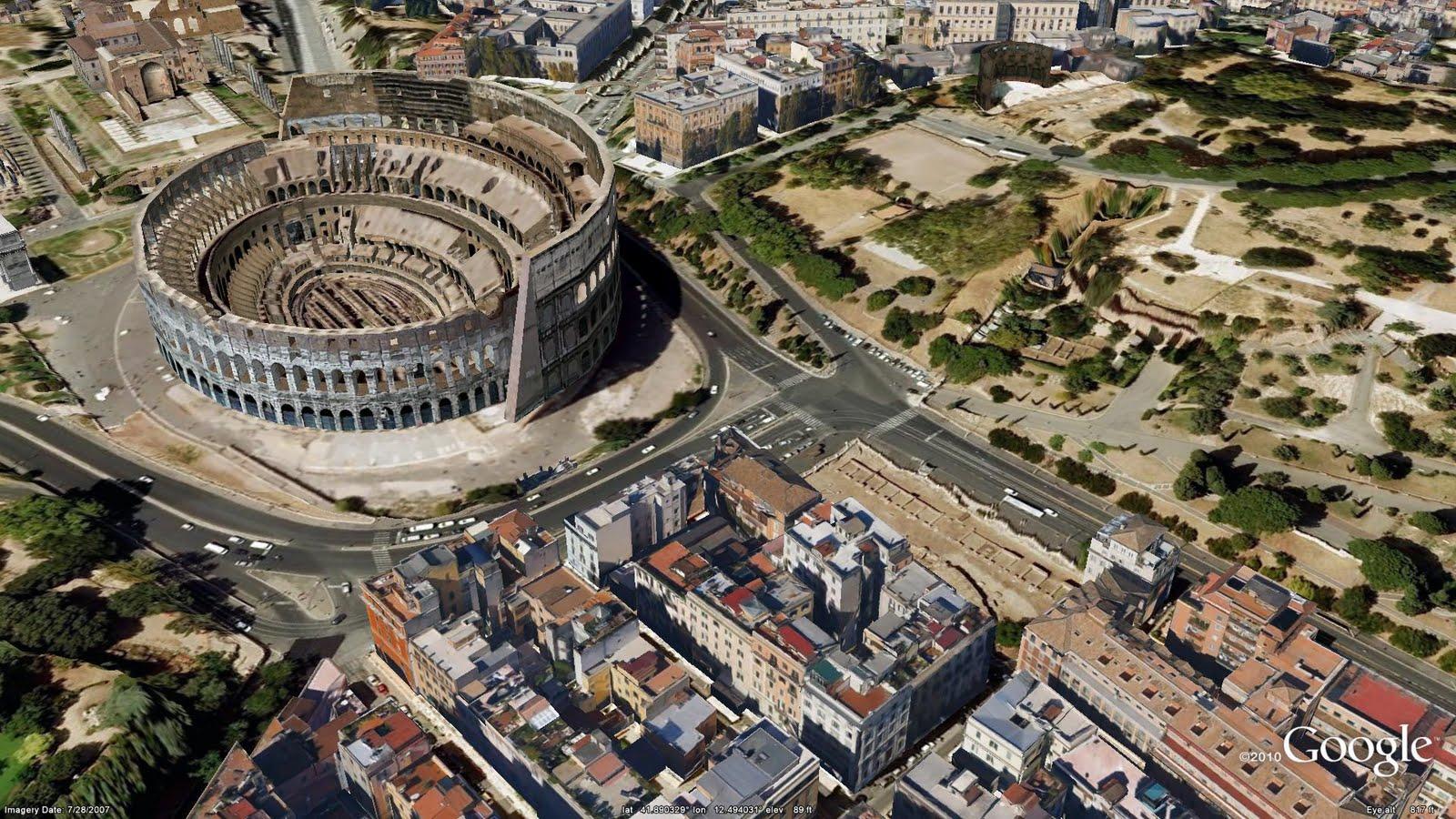 La Capitale italiana e le sue meraviglie in 3D su Google Earth