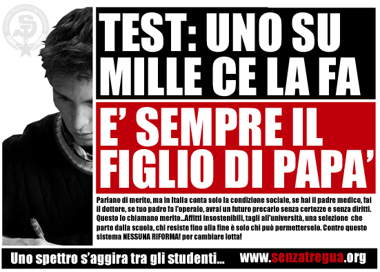 Test d'ammissione per l'Universita', domani tocca alle private