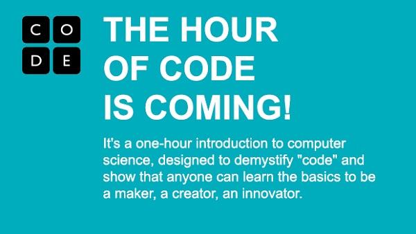 """Tra pochi giorni arriva """"Hour of Code"""" per tutti gli studenti del mondo"""