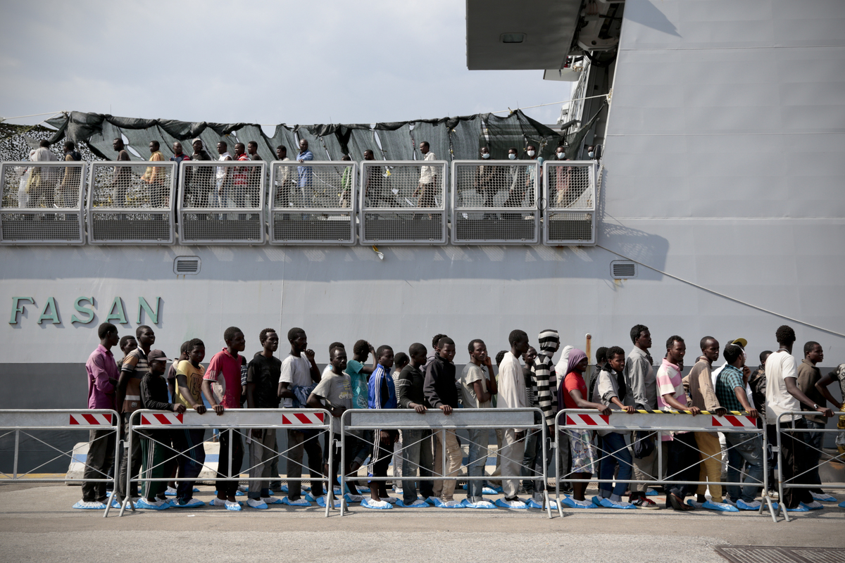 Immigration emergency in Italy. (Ph: Alessio Paduano/NurPhoto.com )
