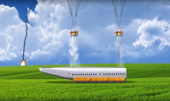 L'aereo che salva i passeggeri in caso d'incidente