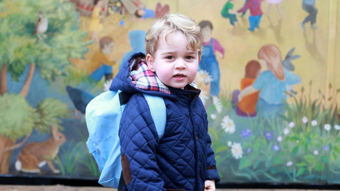 Primo giorno d'asilo per il Principino George
