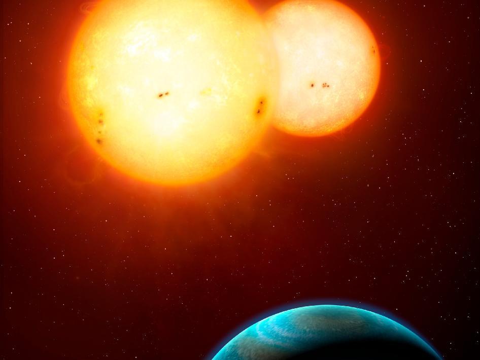 Pianeti in formazione attorno a due Soli