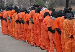 US ATTACKS RIGHTS GUANTANAMO PROTEST