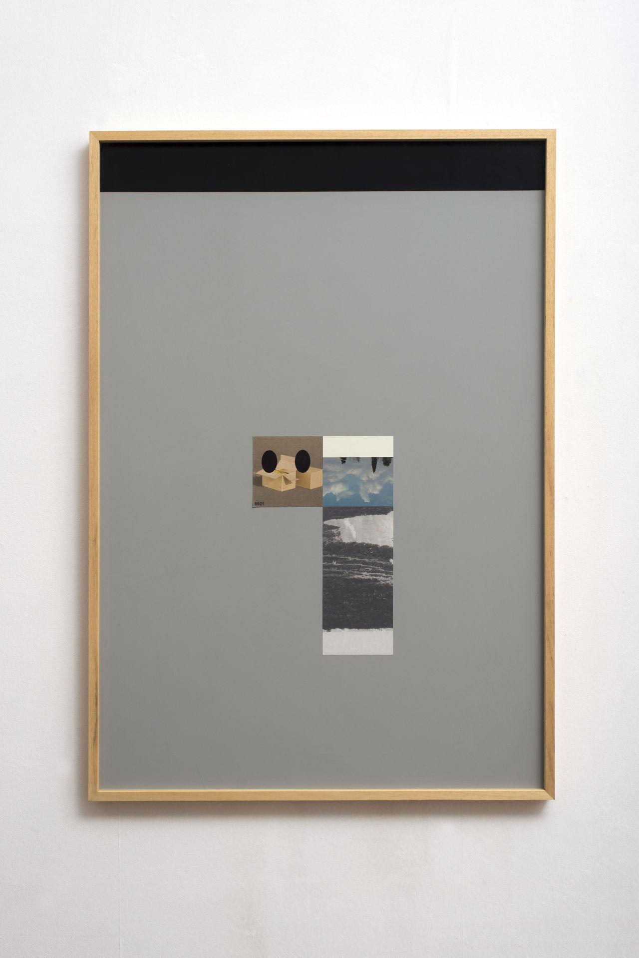 F. Pistillo, Fine del paesaggio, 2016. Stampe digitali ritoccate, applicate su pannello di mdf dipinto ad acrilico opaco, cornice di legno, 101 x 70 cm. ph. G. Benni – (Copia web)