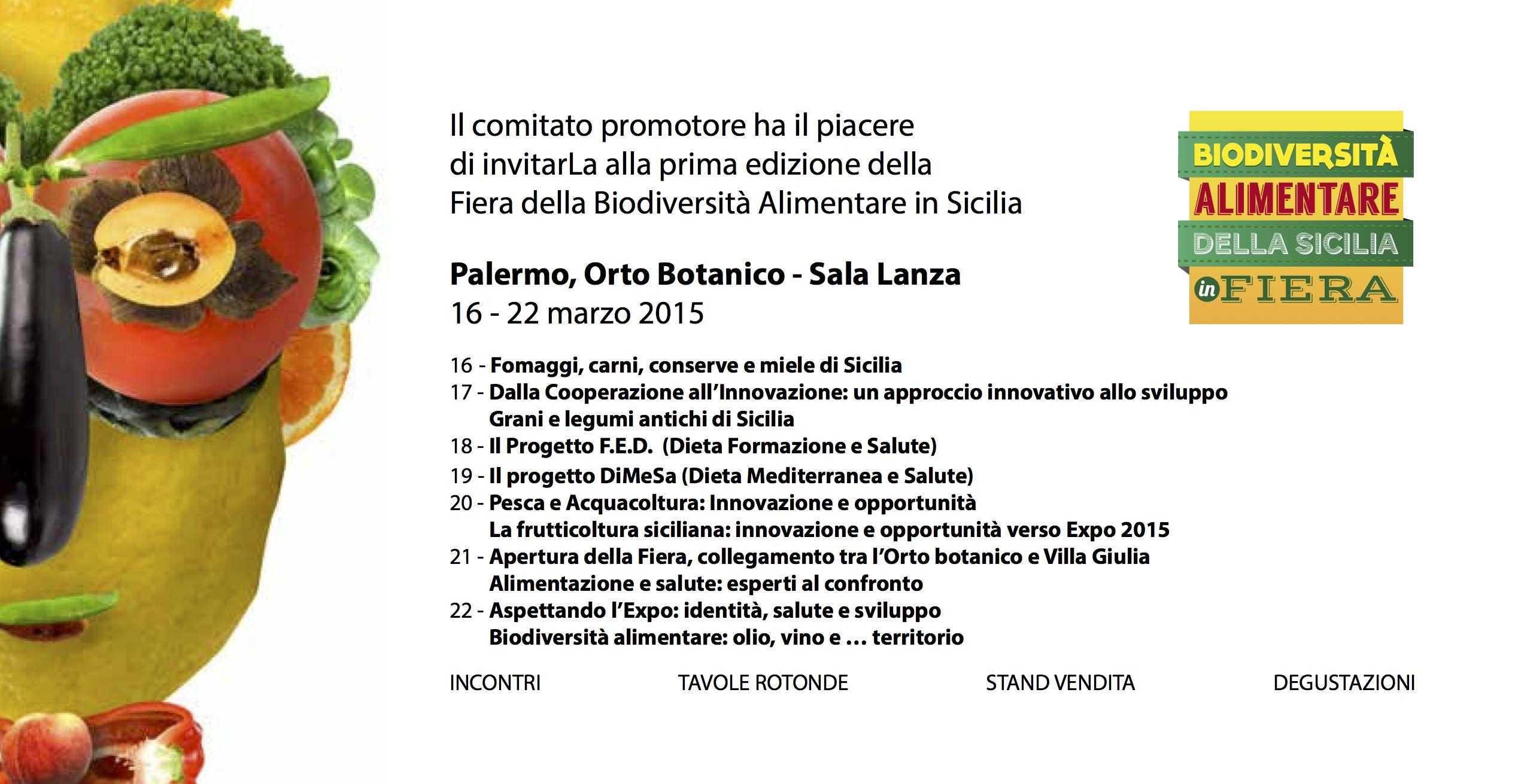 Palermo: Dal 5 all'8 maggio torna in Sicilia la 2^ Fiera della biodiversità alimentare