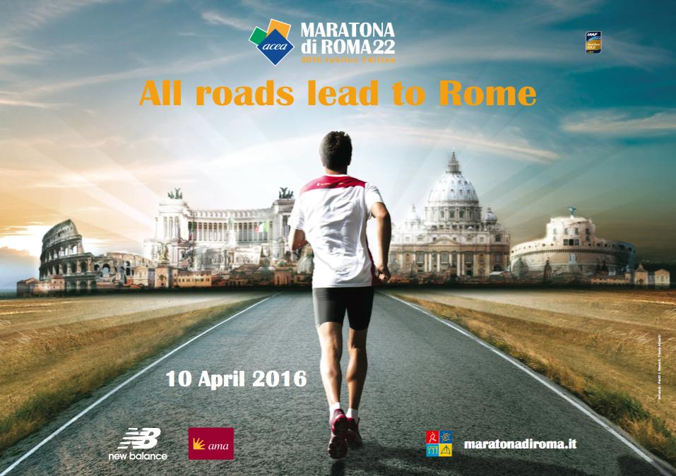 Maratona di Roma, il 10 aprile si corre anche per la solidarietà