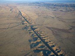 Aerial of the San Andeas Fault.