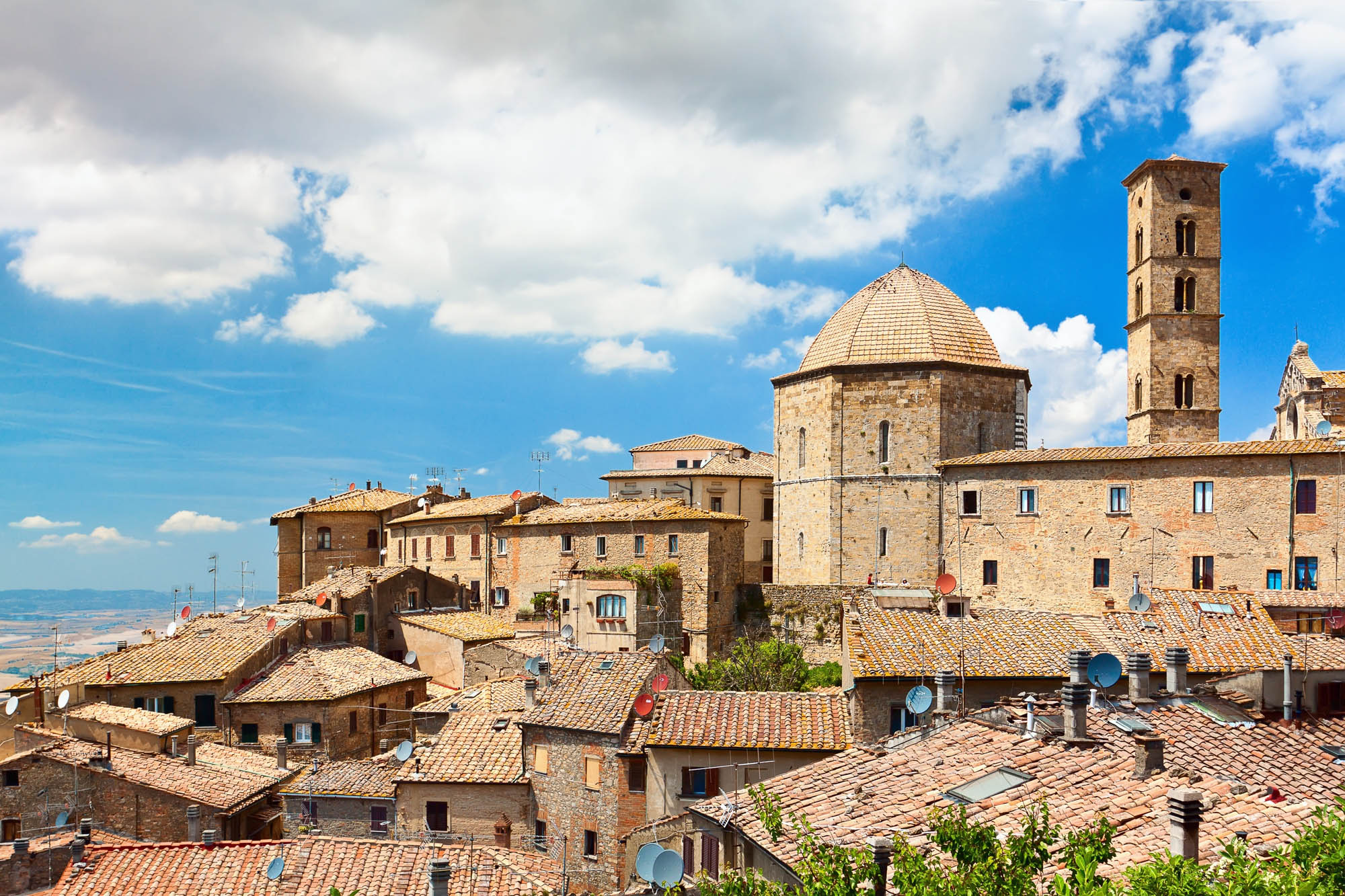 "Roof of a small town in Tuscany ""Volterra"""